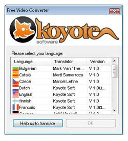 Koyote Free Video Converter screen1