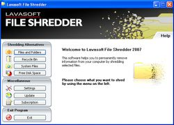 Lavasoft File Shredder screen 2