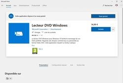Lecteur DVD Windows