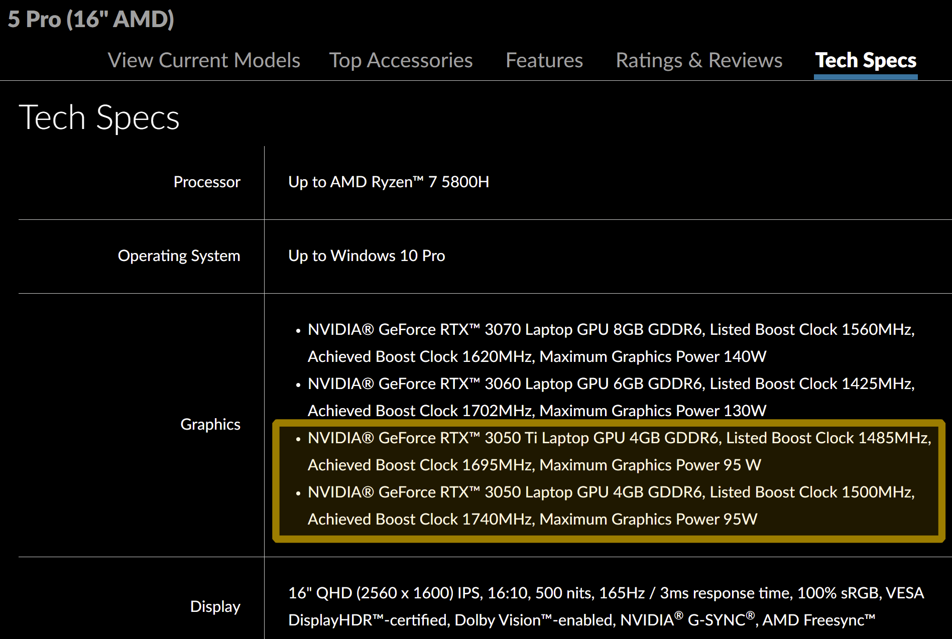 Lenovo Legion Nvidia RTX 3050 Ti