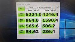 Lexar SSD PCIE4.0 7Gos crystaldiskmark.