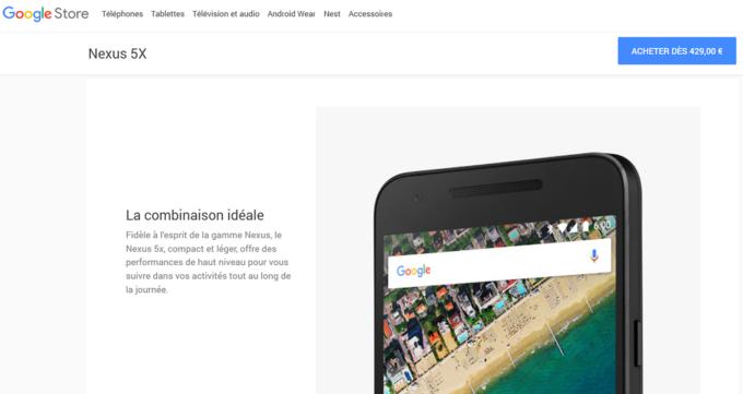 LG Nexus 5X Google Store