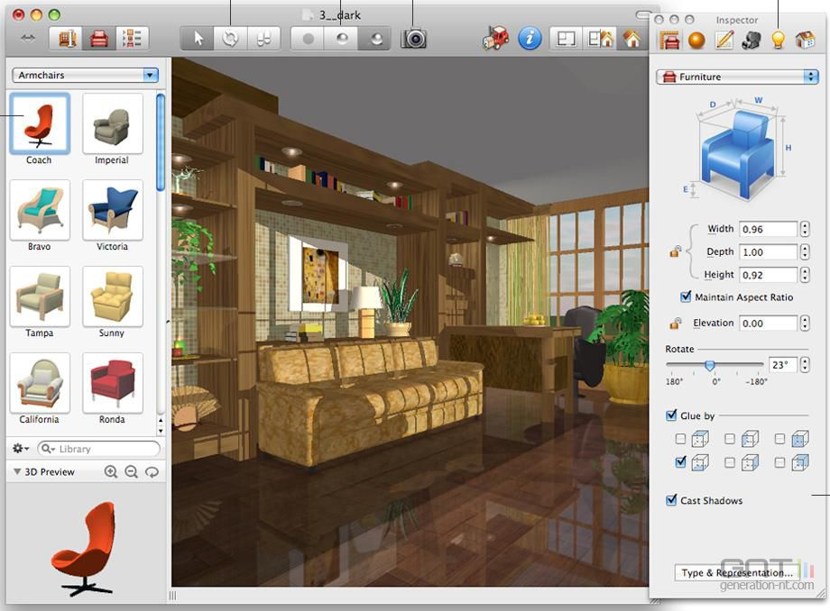 live intrieur 3d mac screen 2