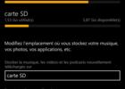Lumia 1320 stockage