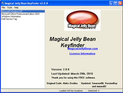 Magical Jelly Bean Keyfinder screen1