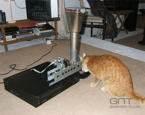 Magnetoscope programmabol pour chat