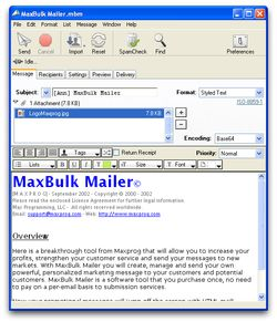 MaxBulk Mailer screen2