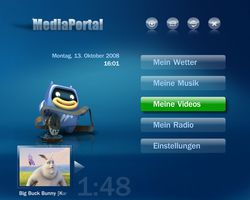 MediaPortal screen1