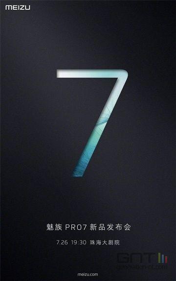 Meizu Pro 7 invitation