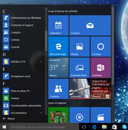 Menu Démarrer Windows 10 (1)