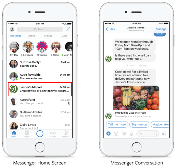 Messenger-message-sponsorise