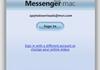 Messenger pour Mac : support audio/vidéo dans une version 8
