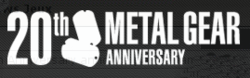 Metal gear 20th anniversary logo