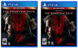 Metal Gear Solid 5 The Phantom Pain - pochette comparative