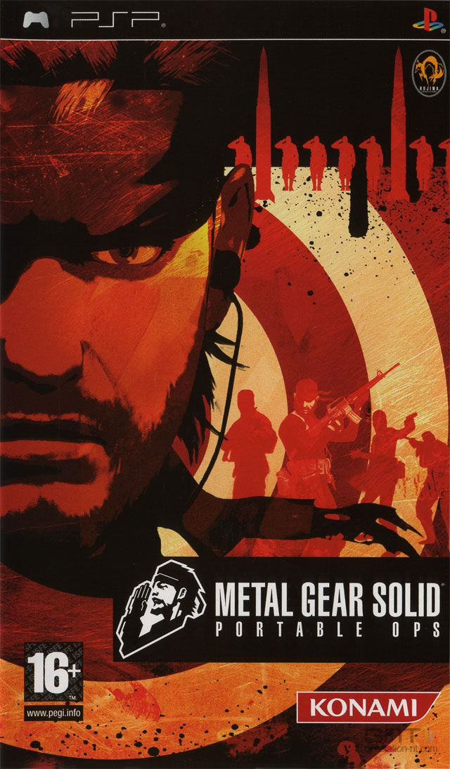 Metal Gear Solid : Portable Ops - Pochette PAL