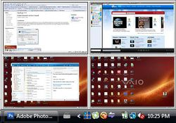 Microsoft Desktops screen