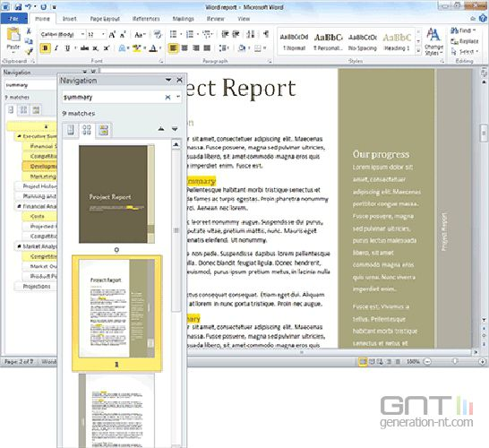 microsoft Office_Word_2010 screen