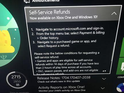 Microsoft refund