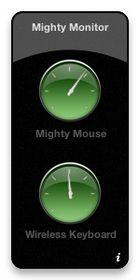 Widget Mighty Monitor : connaitre le niveau des batteries des périphériques