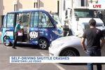 Minibus autonome Navya accident