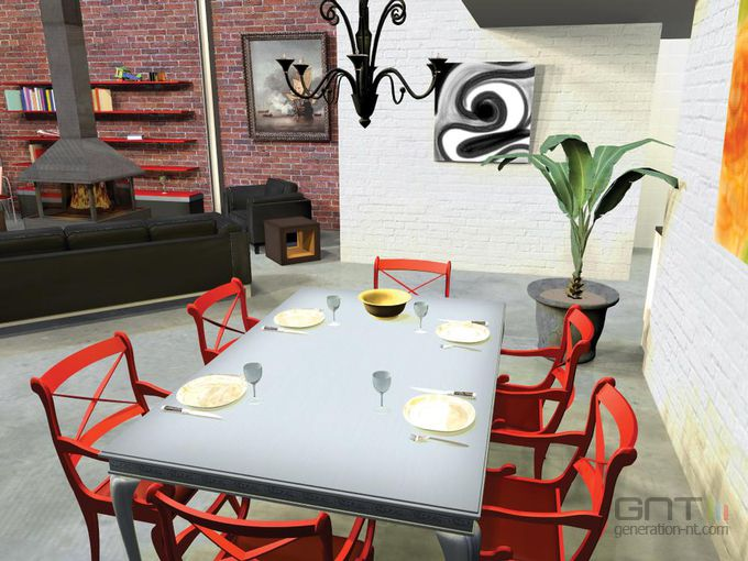 mon int rieur 3d screen 1. Black Bedroom Furniture Sets. Home Design Ideas