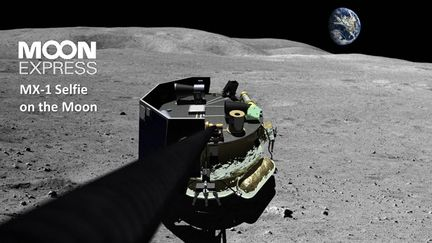 Moon Express MX-1 Selfie on the Moon