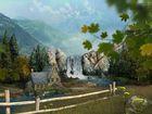 Mountain Waterfall : un paysage de montagne comme écran de veille