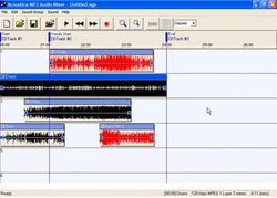 MP3 Audio Mixer screen