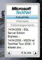 Gadget MS TechNet RSS