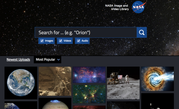 NASA-bibliotheque-images-videos