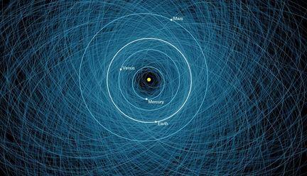 NASA carte collision astéroides