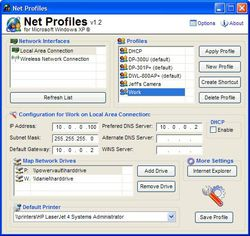 Net Profiles screen 3