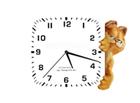 nfsGarfieldHoursWhite : Garfield comme économiseur d'écran