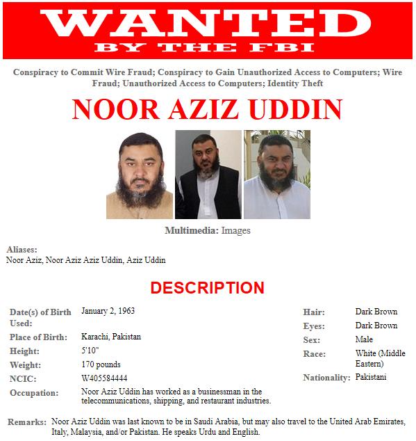 Noor-Aziz-Uddin-Most-Wanted-FBI