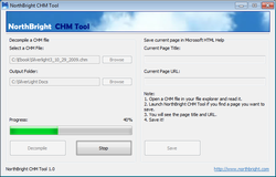 NorthBright CHM Tool screen