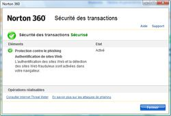 Norton 360 transactions