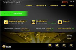 Norton Internet Security 2012 screen