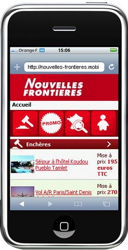 Nouvelles Frontieres mobile