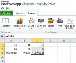 Office-Excel-Web-App-Remplissage