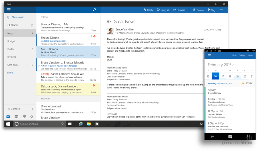 Office Pour Windows 10 Outlook