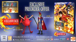 One Piece Pirate Warriors 3 - bonus precommande