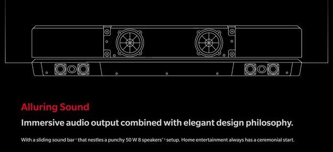 OnePlus TV haut-parleurs