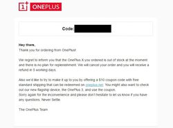 OnePlus X email