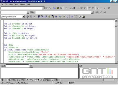 Openofficebasic