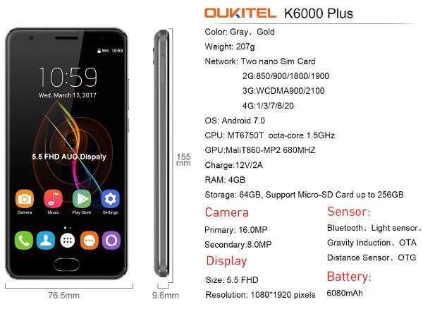 Oukitel-K6000-Plus-specifications