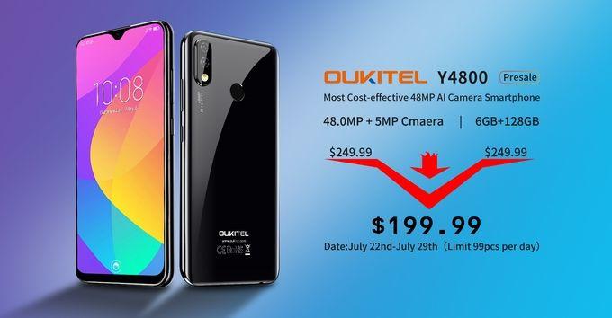 Oukitel Y4800 promotion