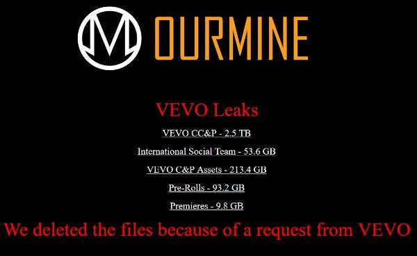 OurMine-Vevo