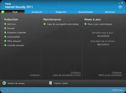 Panda Internet Security 2011 screen 2