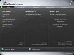 Panda Internet Security for Netbooks 2011 screen 1