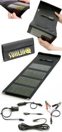 un panneau solaire pour recharger vos appareils. Black Bedroom Furniture Sets. Home Design Ideas